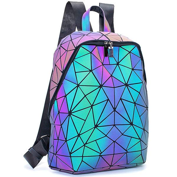 Stylish Holographic Reflective Luminous Backpack