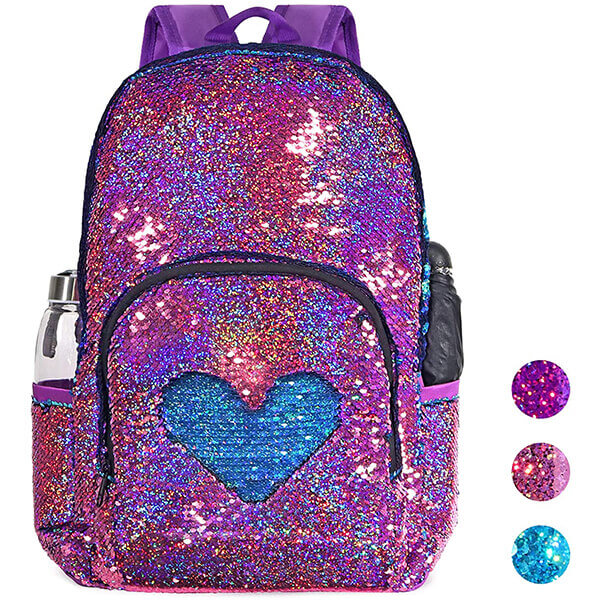 DIY Sequin Elementary Lightweight Backpack