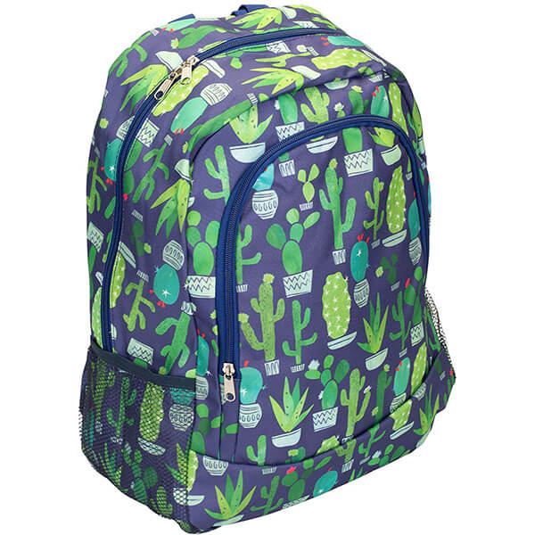 Fashionable Succulents Padded Cactus Backpack