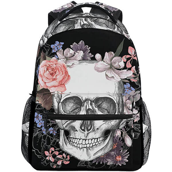 Marble Backpack with Roses for Youngsters