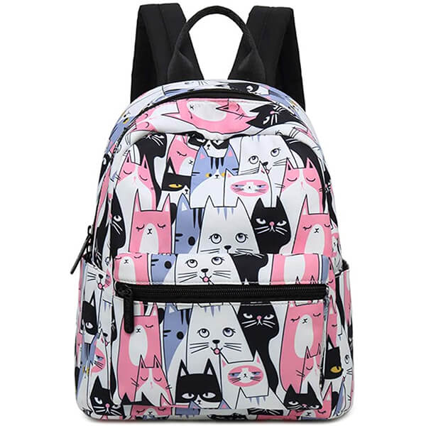 Multi-Pockets Fashionable Cat Backpack for School