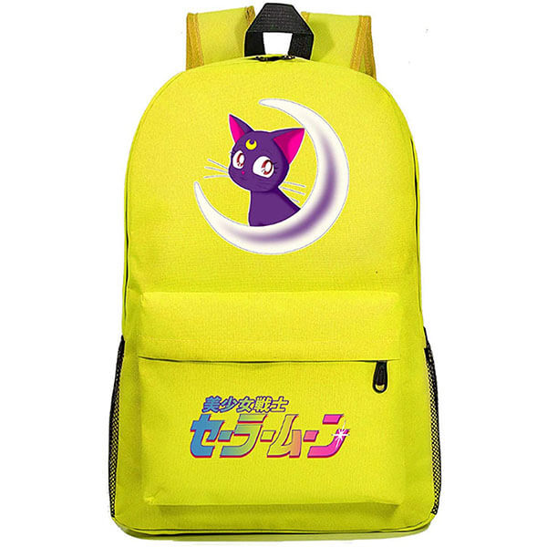 Yellow color Canvas Fabric Sailor Moon Backpack