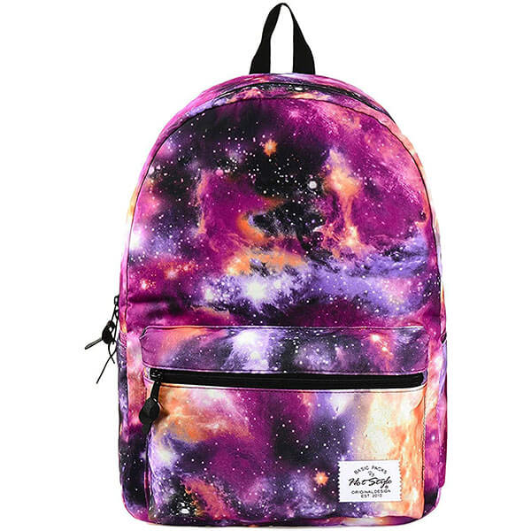 Fabulous Purple Colour Space Backpack for Youth