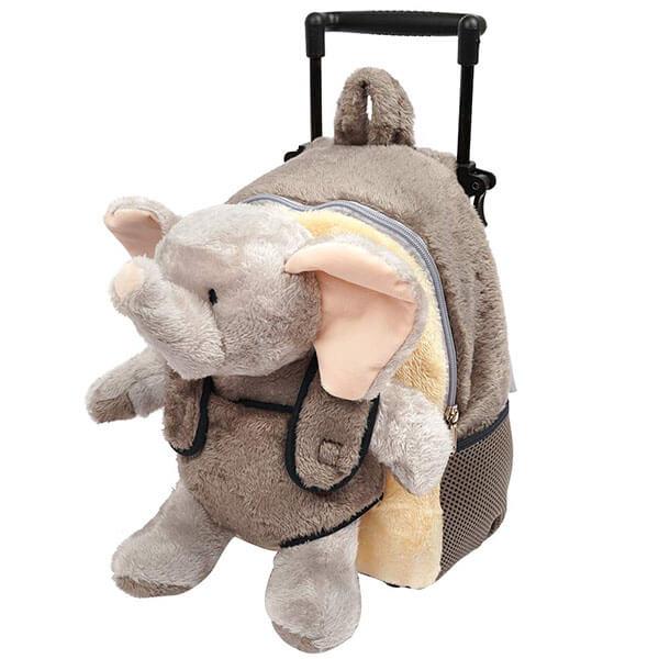 Stuffed Plush Elephant Trolley Backpack