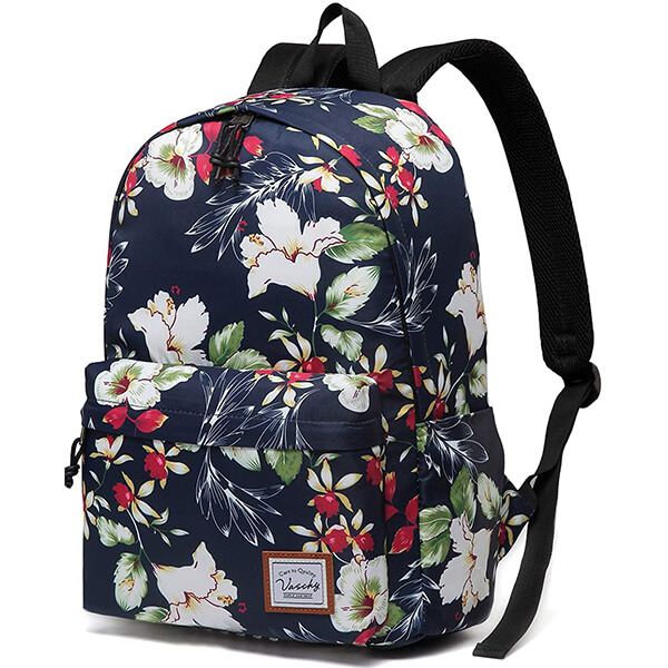 Catchy Girls Floral Backpack with Smooth SBS Zippers