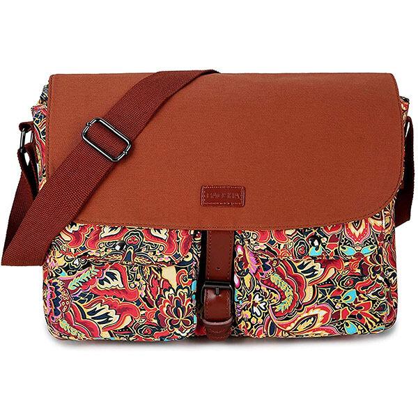 Lovely Colorful Hand Prints Messenger Bag Crossbody Bag Large Durable Shoulder School Or Business Bag Oxford Fabric For Mens Womens