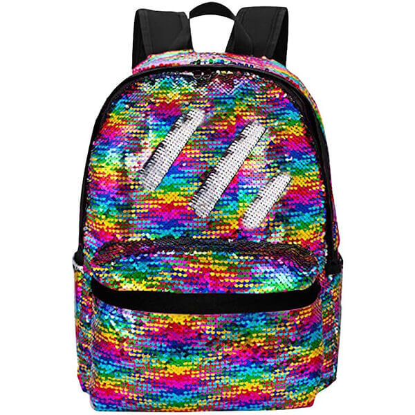 Oxford Fabric Reversible Sequin Backpack