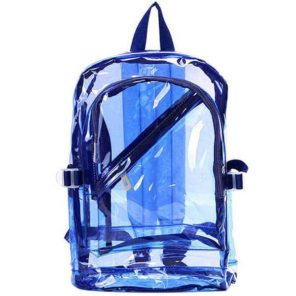 Plastic Blue Transparent Backpack