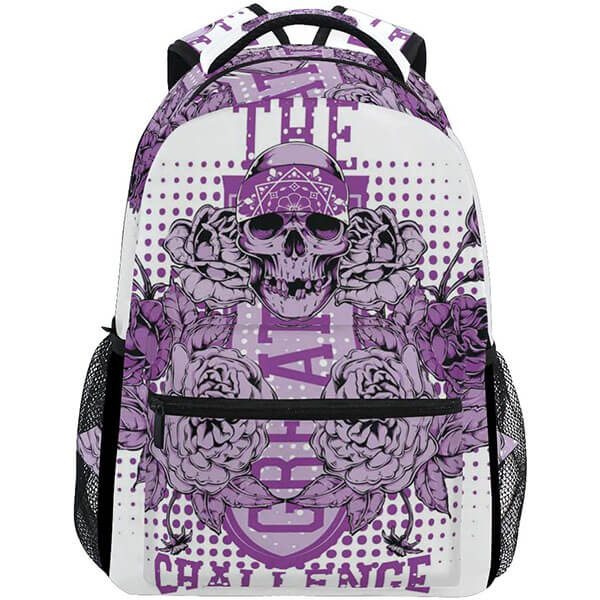 Purple Rose Backpack for College