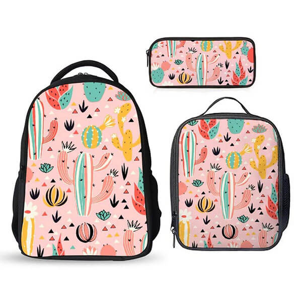 Three-in-One Cactus Backpack Set