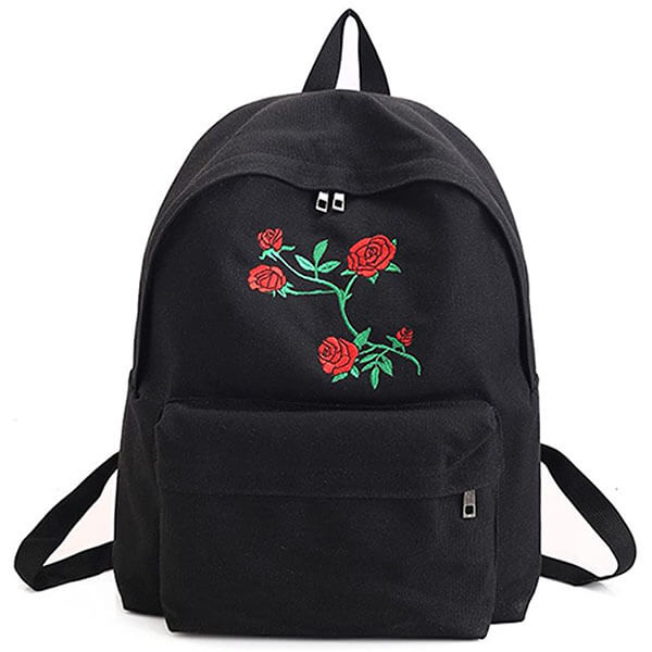 Bohemian Rose Backpack for School Kids