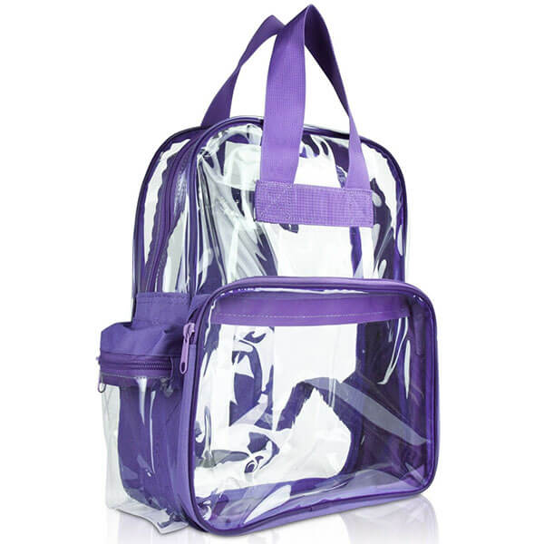 Purple Clear Backpack for School