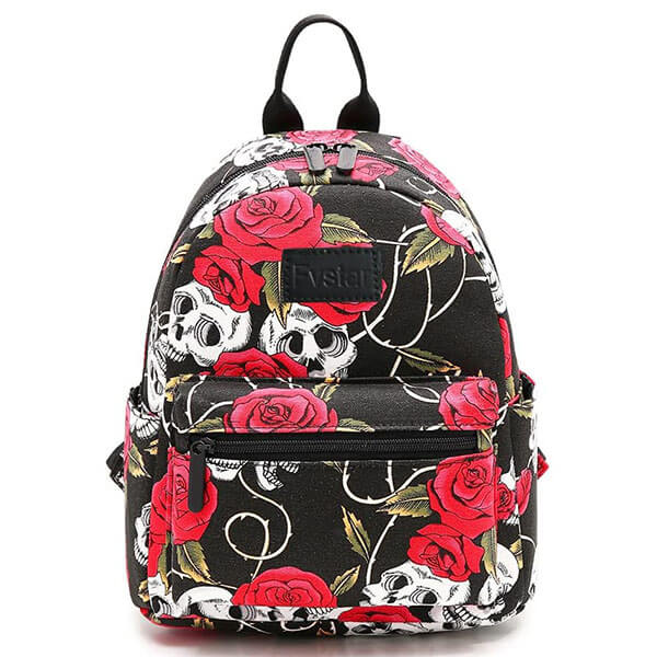 Cute Printed Backpack with Roses for Teens