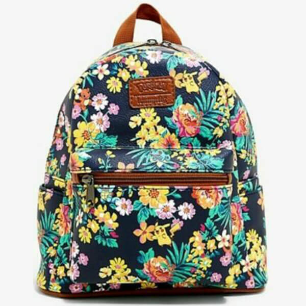 Loungefly Polyurethane Pikachu Floral Backpack