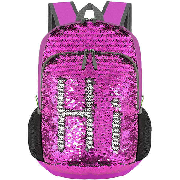Water-Resistant Nylon Hiking Sequin Backpack
