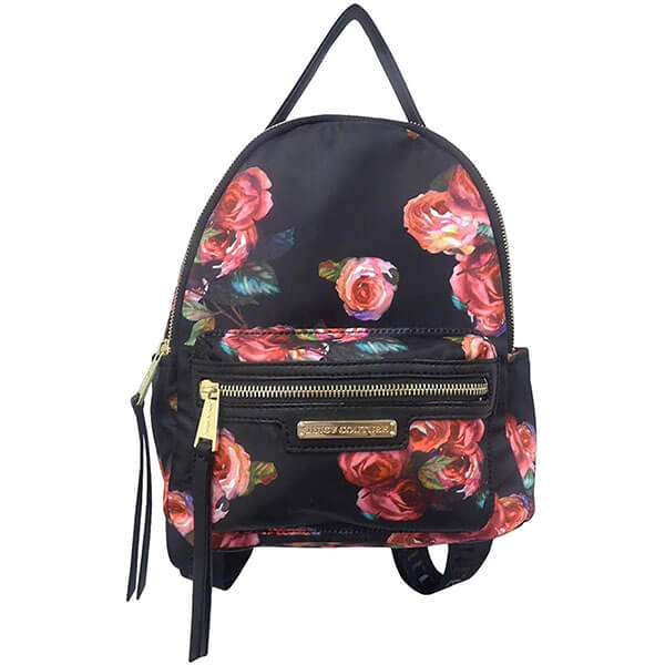 Black Rose Mini Backpack for Girls