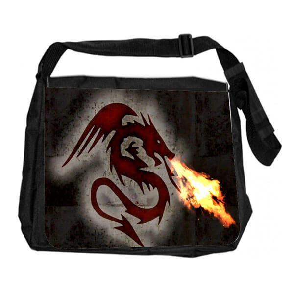 Dragon Fire Messenger Bag for Schoolboys