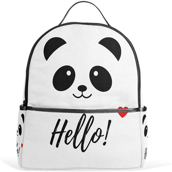 Hello Panda Polyester Mini Backpack