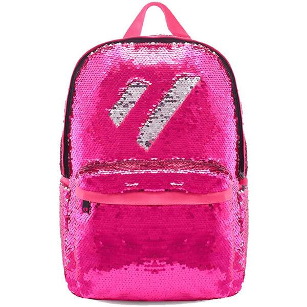 Hot Pink College Reversible Sequin Backpack