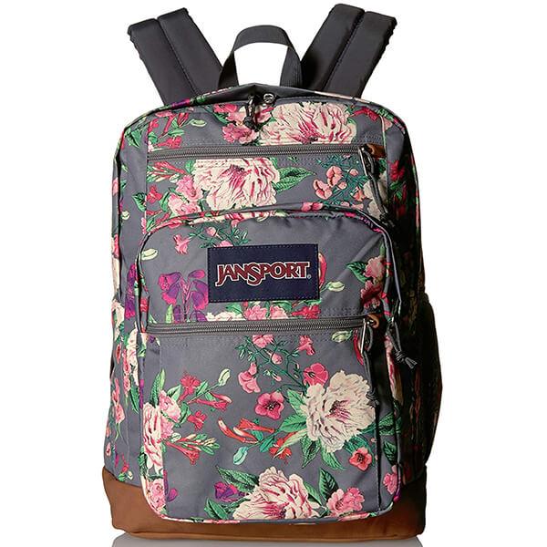 JanSport Cool Rectangular Organizational Flower Backpack
