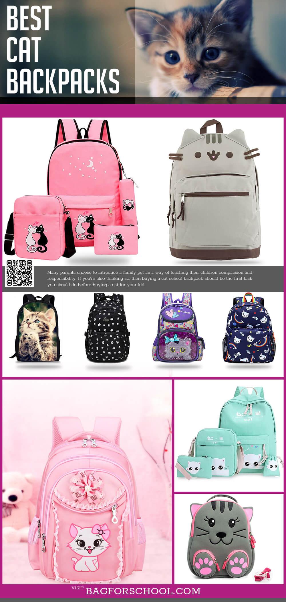 Cat School Backpacks