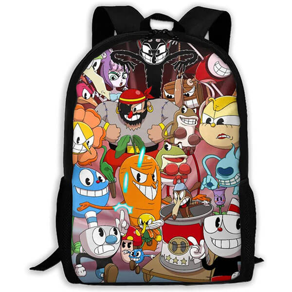 Character Polyester Cool Cuphead Book Bag