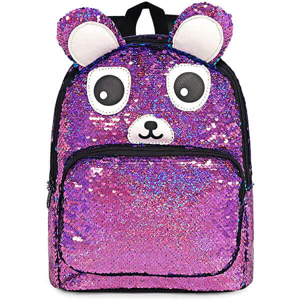 Cute Dog Reversible Sequin Backpack