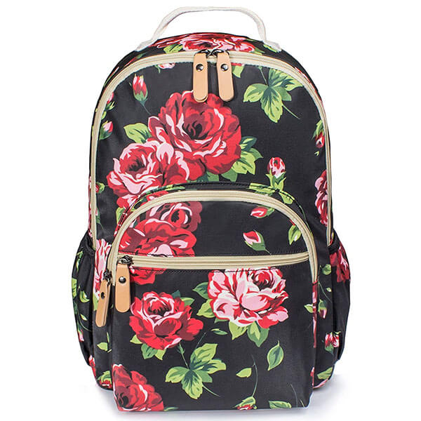 Hiking Backpack with Roses for College Kids