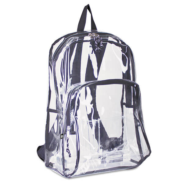 Plastic Two-Compartment Clear Backpack