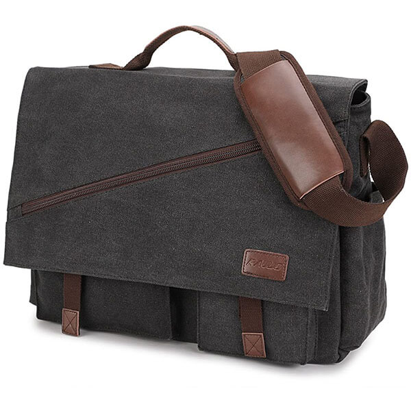 Water Resistant 17-Inch Laptop Messenger Bag
