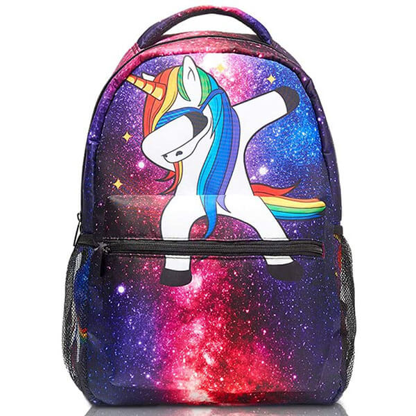 Animal Printed Space Themed Casual Backpack