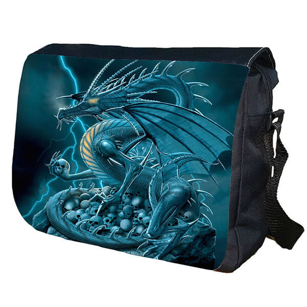 Blue Dragon Personalized Messenger Bag