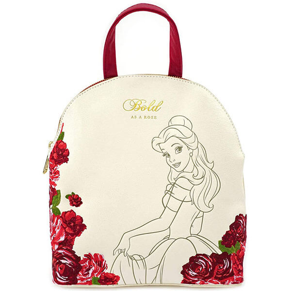 Disney Belle Flowers Faux Leather Mini Backpack