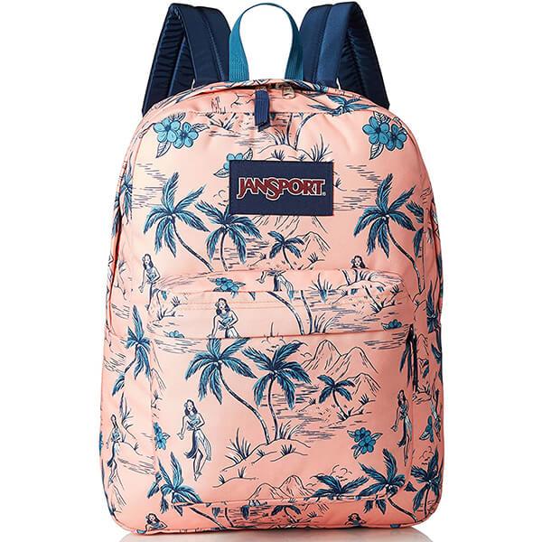 JanSport Super-break Dancing Girl Floral Backpack