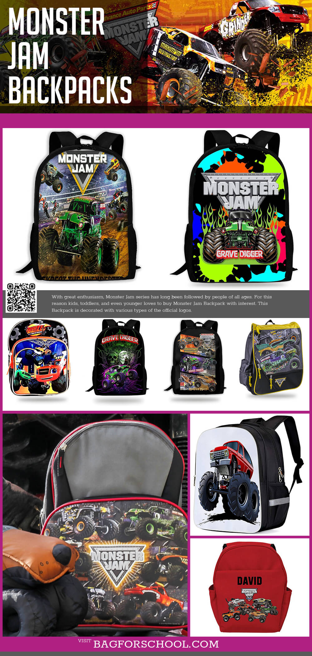 Monster Jam Backpacks