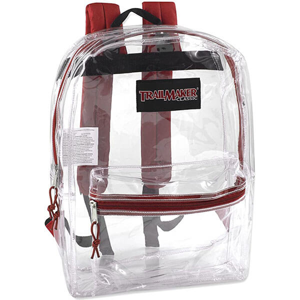 Clear Backpack with Handy Accessory Pocket