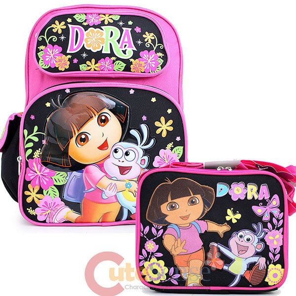 Garden Canvas Dora Backpack with Lunch Bag