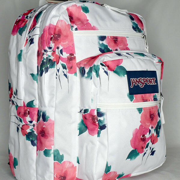 Watercolor Laptop Rose backpack for Teens