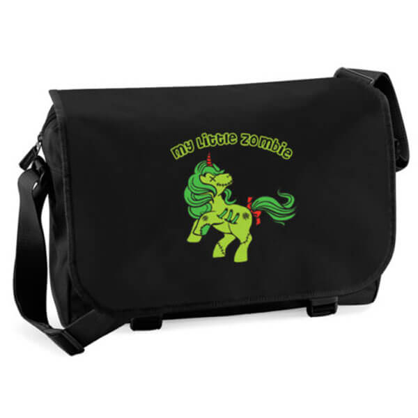 Zombie Unicorn Messenger Bags for School