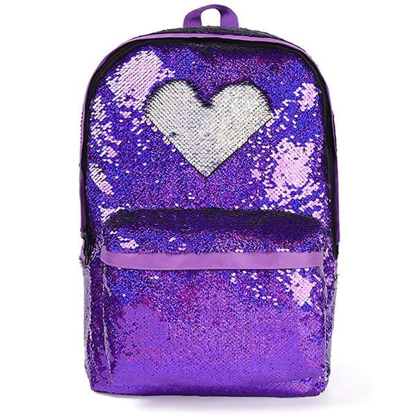 DIY Nylon Reversible Sequin School Backpack