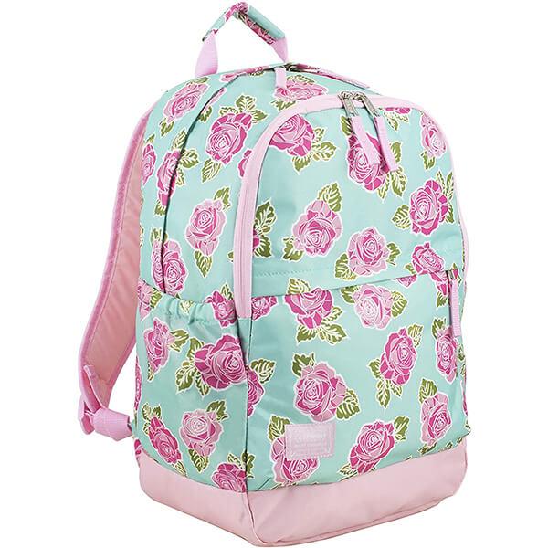 Rose Sand Spring Water-resistant Polyester Floral Backpack