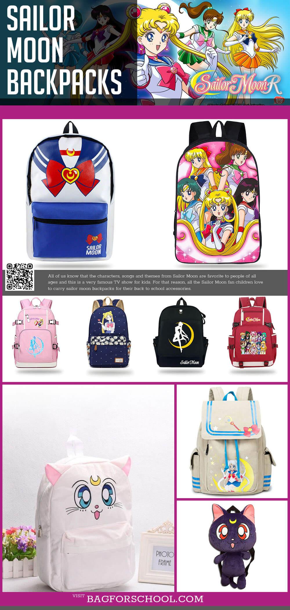 Sailor Moon And Sailor Moon Luna Backpacks