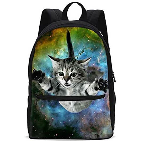 Galaxy Fly Cat School Backpack for 1-5th Grade
