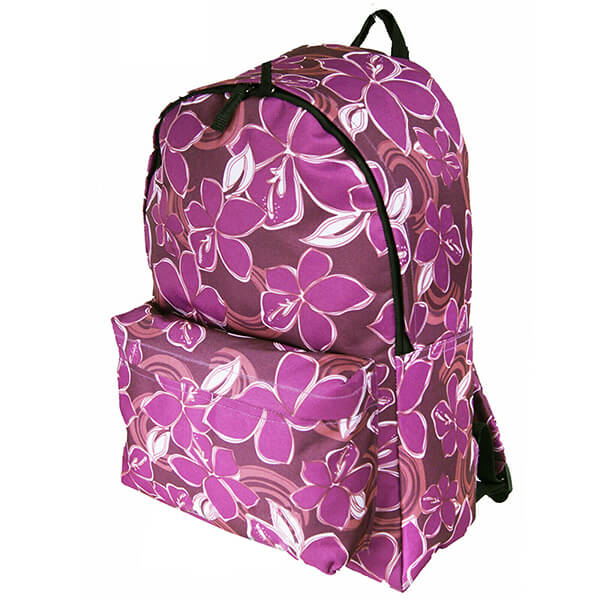 A4 Files Fit College to Work Plum Purple Floral Backpack