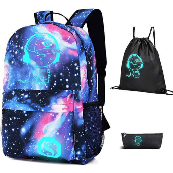 Luminous Anime Casual Backpack for Kids