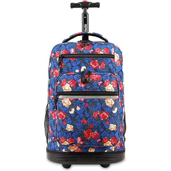 Rolling Laptop Rose Backpack for Teens