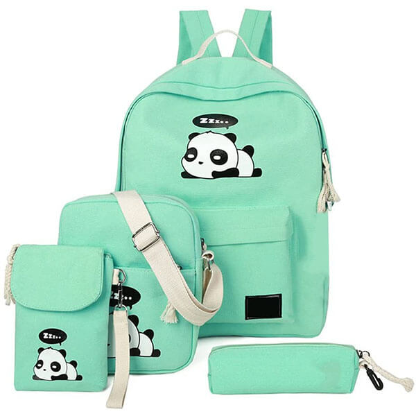 Unique Canvas Kids Panda Backpack