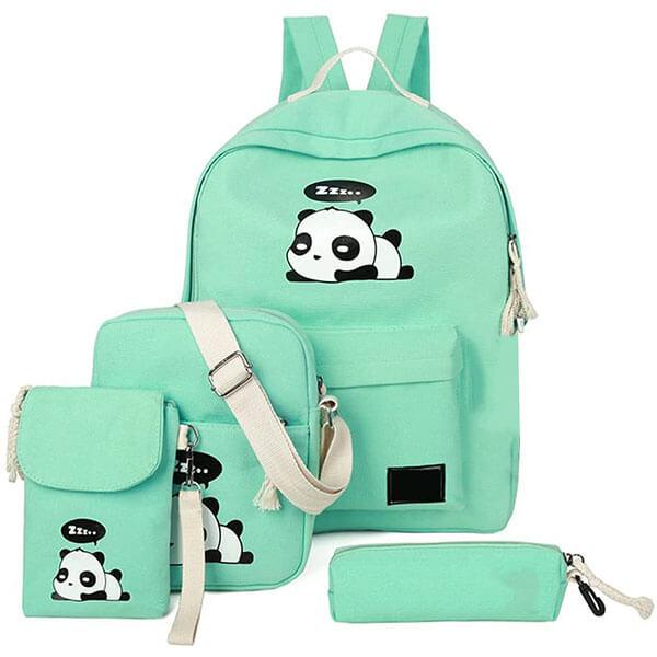 Unique Canvas Kids Panda Backpack