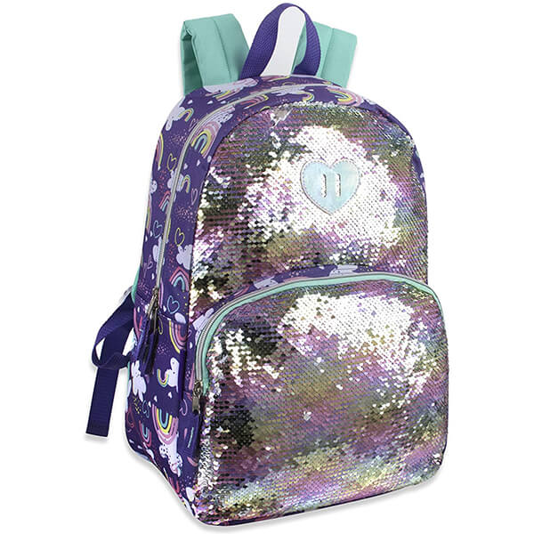 Comfy Cushioned Reversible Sequin Backpack