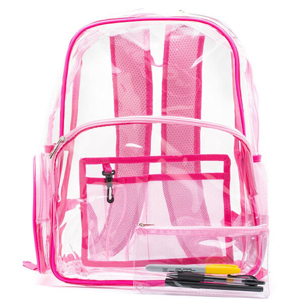 Plastic Clear Backpack with Pencil Case